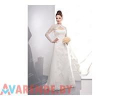 Прокат свадебного платья А-силуэта c0075