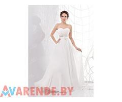 Прокат шифонового свадебного платья c0061