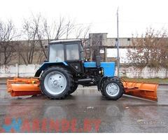 Аренда Трактора-щетки на базе МТЗ-92П (снежный отвал+щетка)