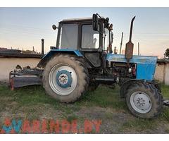 Аренда трактора с отвалом и щеткой