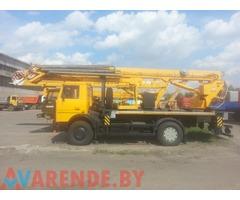 Аренда автовышки 30 метров АГП-30-4 коленчато-телескопическая МАЗ 5337