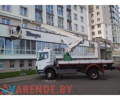 Аренда телескопической автовышки 22 метра в Минске