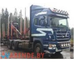 Аренда лесовозов Scania и Daf с гидроманипулятором + прицеп