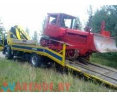 Аренда трал-эвакуатор до 12 тонн, лебедка 50м в Минске