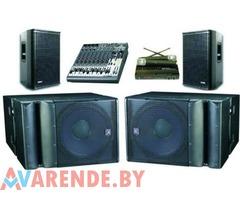 Прокат комплекта звукового оборудования в Минске