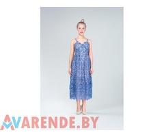 Ажурное голубое платье Fingati напрокат в Минске