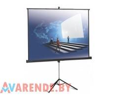 Прокат экрана для проектора на штативе Projecta 180х180