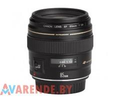 Объектив Canon EF 85mm f/1.8 напрокат в Минске