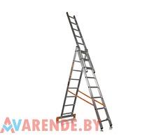 Аренда Универсальная лестница 3-хсекционная алюминиевая. Высота от 4 до 10м