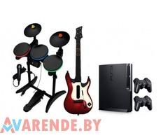 Прокат PlayStation 3 + гитара и барабаны в Минске