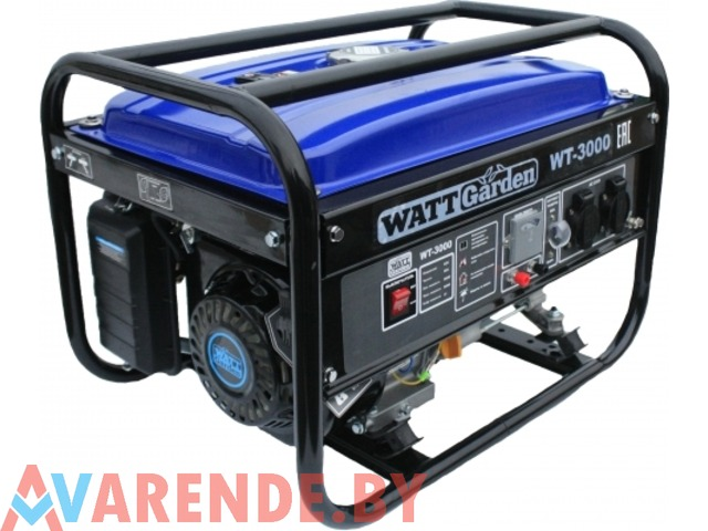 Бензиновый генератор WATT WT-3000 напрокат в Пинске - 1/4