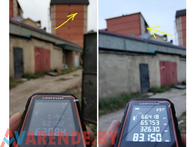 Дальномер лазерный (лазерная рулетка) с угломером напрокат в Пинске - 3/4