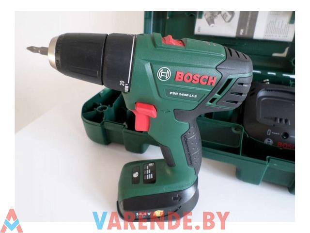 Шуруповерт Bosch PSR 1440 LI-2 напрокат в Пинске - 3/3