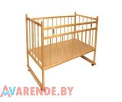 Прокат детской кроватки деревянной в Витебске