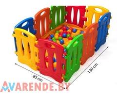 Прокат игрового манежа с шариками (100 шт) в Витебске