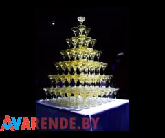 Пирамида шампанского напрокат в Минске