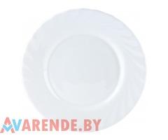 Тарелка столовая (белая),диаметр 14 см напрокат в Минске