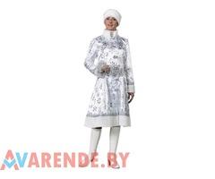 Новогодний костюм для взрослых Снегурочка напрокат в Бобруйске