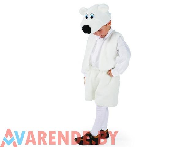 Новогодний костюм «Медведь белый» рост 110-116 напрокат в Бобруйске - 1/1