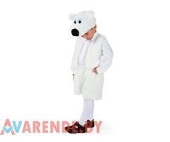 Новогодний костюм «Медведь белый» рост 110-116 напрокат в Бобруйске