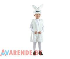 Прокат новогоднего костюма Заяц белый рост 110-116 в Бобруйске