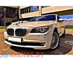 Арендовать BMW7 F02 на свадьбу с водителем в Минске
