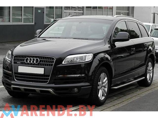 Прокат Audi Q7 на свадьбу с водителем в Минске - 1/1
