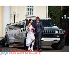 Арендовать лимузин Хаммер на свадьбу с водителем в Минске