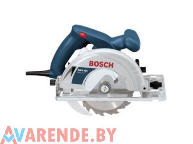 Ручная циркулярная пила Bosch GKS 160 напрокат в Минске - 1/1