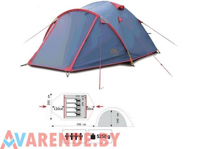 Прокат четырехместной двухслойной туристической палатки Sol Camp-4 - 1/1