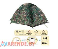 Прокат трехместной двухслойной туристической палатки Sol Hunter