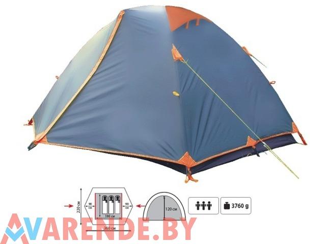 Прокат трехместной двухслойной туристической палатки Sol Erie - 1/1