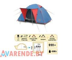 Аренда трехместной двухслойной туристической палатки Sol Wonder 3