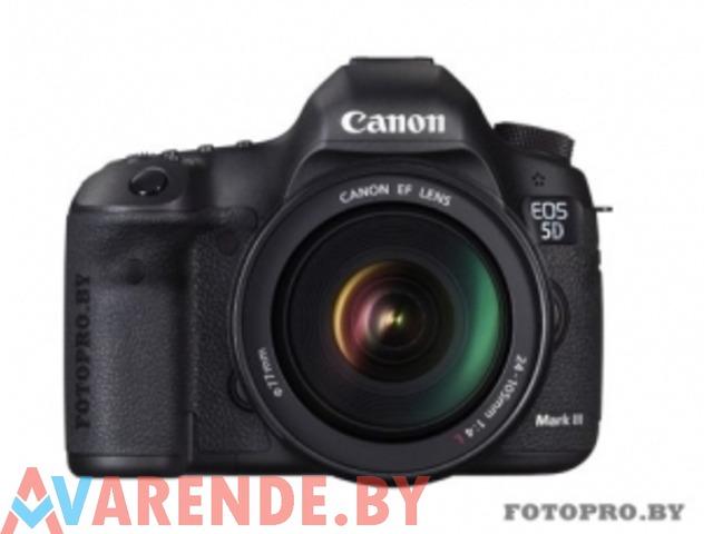 Прокат фотоаппарата Canon EOS 5D Mark III в Минске - 1/1