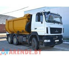 Аренда самосвала МАЗ 5516, вывоз грунта и строительного мусора в Минске