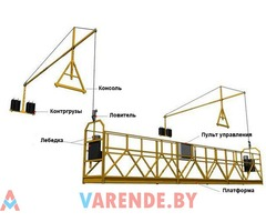 Аренда люльки строительной 1-6м в Минске