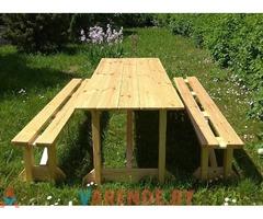 Набор складной мебели «Фест» (1 стол 2 скамейки) напрокат в Минске