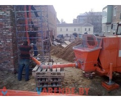 Аренда бетонанасоса стационарного трасса 120 м в Минске