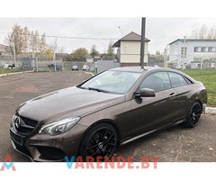 Аренда Mercedes E-klass AMG coupe в Минске