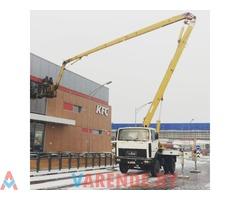 Аренда автовышки 28 метров в Минске