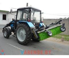 Аренда трактора со щёткав Минске