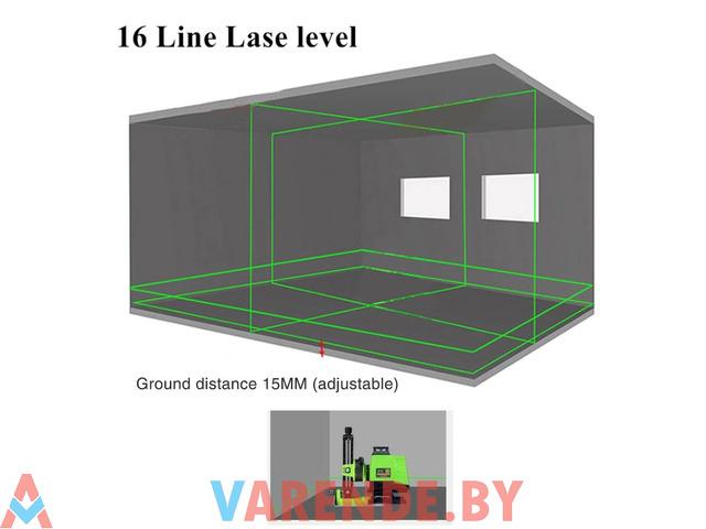 Лазерный 4D уровень Нивелир 16 линий . Аренда Прокат Орша. - 4/4
