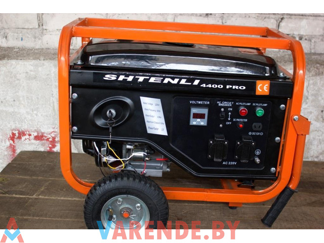 Бензогенератор Shtenli Pro S 4400 электростартер. Аренда Прокат Орша. - 1/1