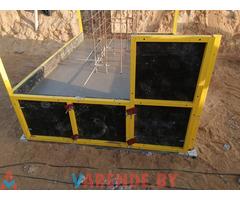Аренда мелкощитовой инвентарной опалубки для устройства фундаментов, стен, колонн, заборов и бассейн