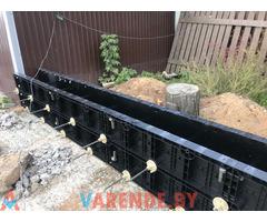 Аренда пластиковой опалубки для стен фундамента и забора