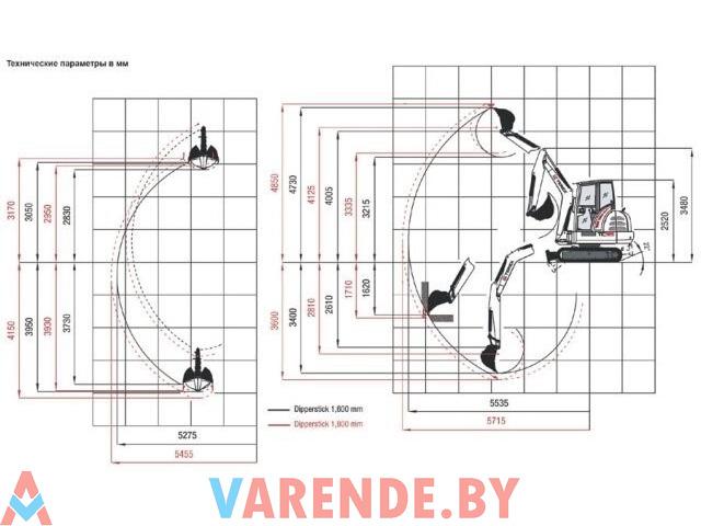 Аренда мини-экскаватора 3.5 т., глубиной капания 3.5 м. - 1/3