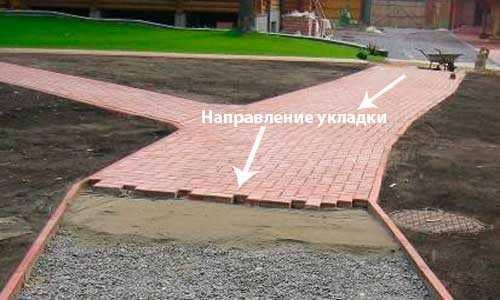 Кладка тротуарной плитки